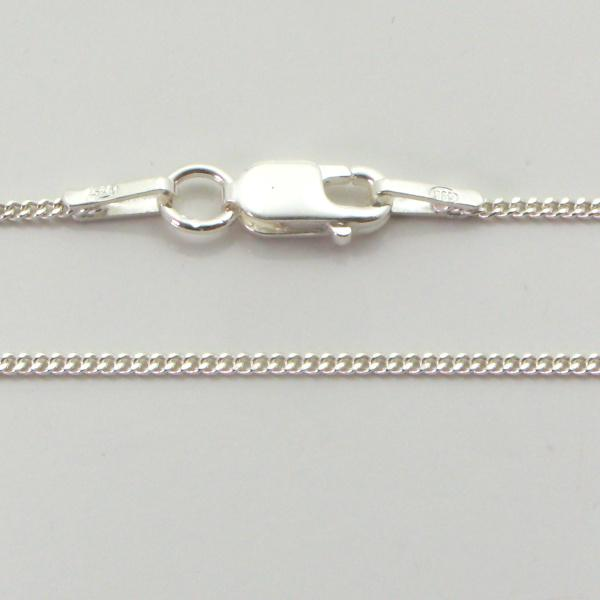 Silver Curb Chains 1.2mm Wide 40cm