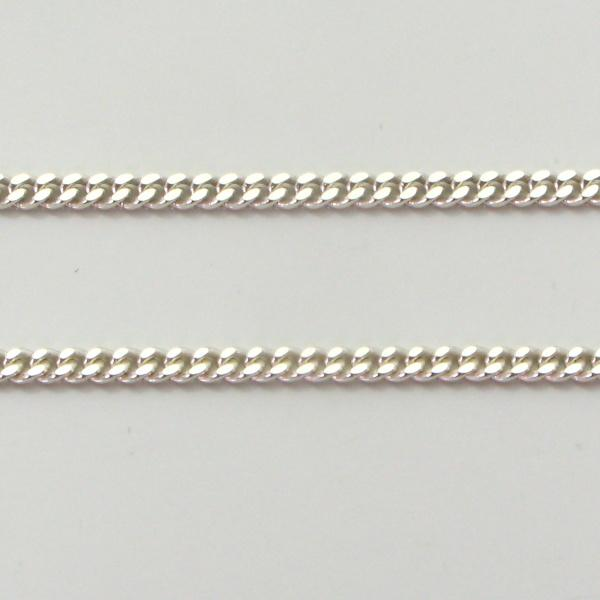 Silver Curb Chains 1.7mm Wide 50cm