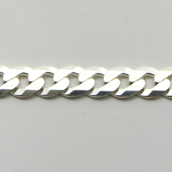 Silver Curb Chains 5.8mm wide 50 cm (Extra Flat)