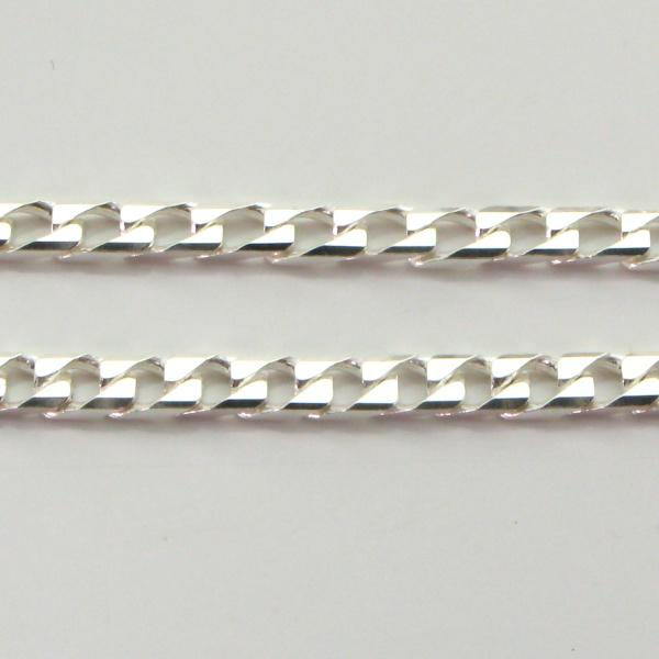 Silver Curb Chains (Square) 2.7mm wide 55cm