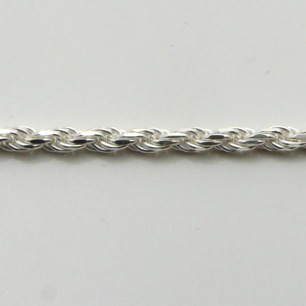 Silver Rope Chains 2.3mm Wide 55cm