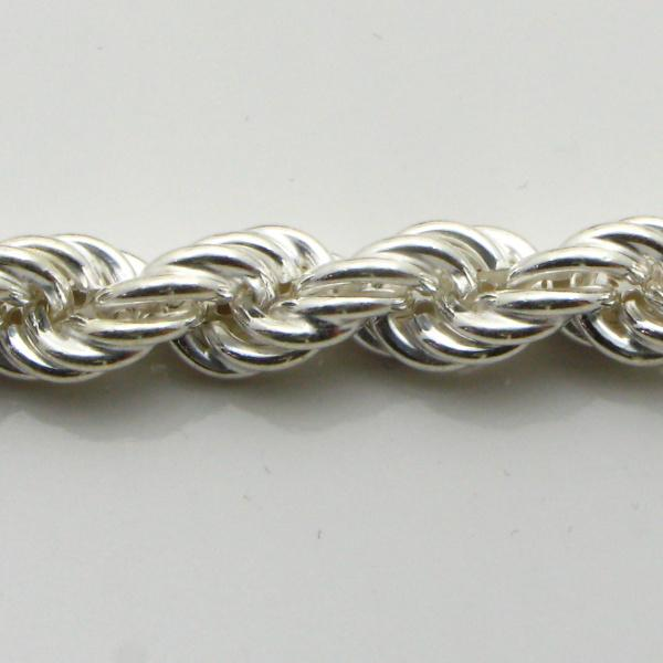 Silver Rope Chains (Hollow) 6.2mm Wide 45cm