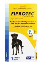 FIPROTEC DOG 40-60KG (XL) YELLOW Single
