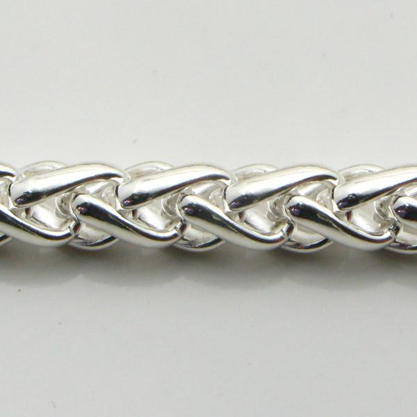 Silver Wheat Chains 6.1mm wide 64.2g