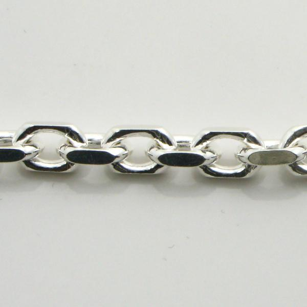 Silver Anchor Chains 4.4mm wide 60 cm (Square)