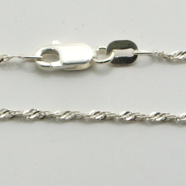 Silver Singapore Chains 1.4mm Wide 50cm
