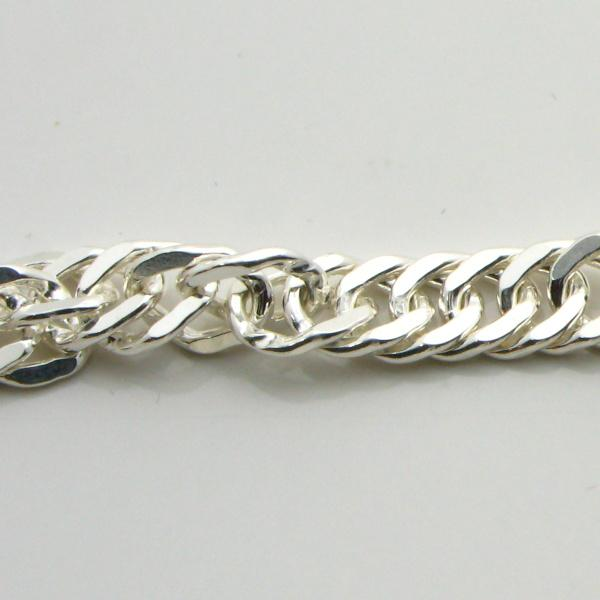 Silver Singapore Chains 5.5mm Wide 55cm