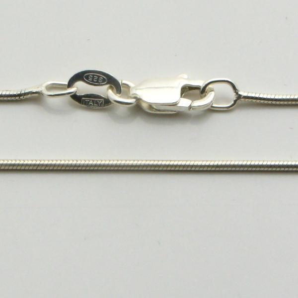 Silver Snake Chains (Magic Round) 0.9mm Wide 60cm