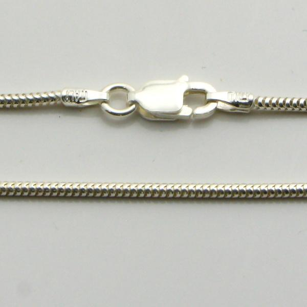 Silver Snake Chains Wide (Real) 1.2mm Wide 55cm
