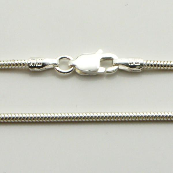 Silver Snake Chains Wide (Real) 1.4mm Wide 55cm