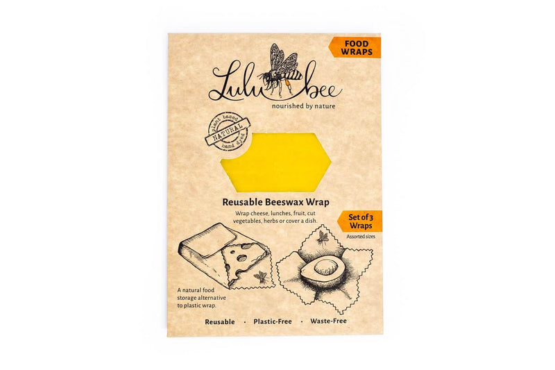 Photograph of Lulubee Food Wrap in its packaging