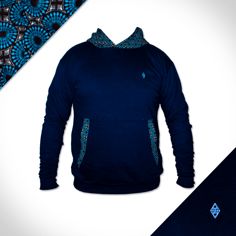 Hooded Rondavel Front - Navy