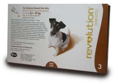 REVOLUTION 12% DOGS (0.5MLX3)5.1-10KG (BROWN)