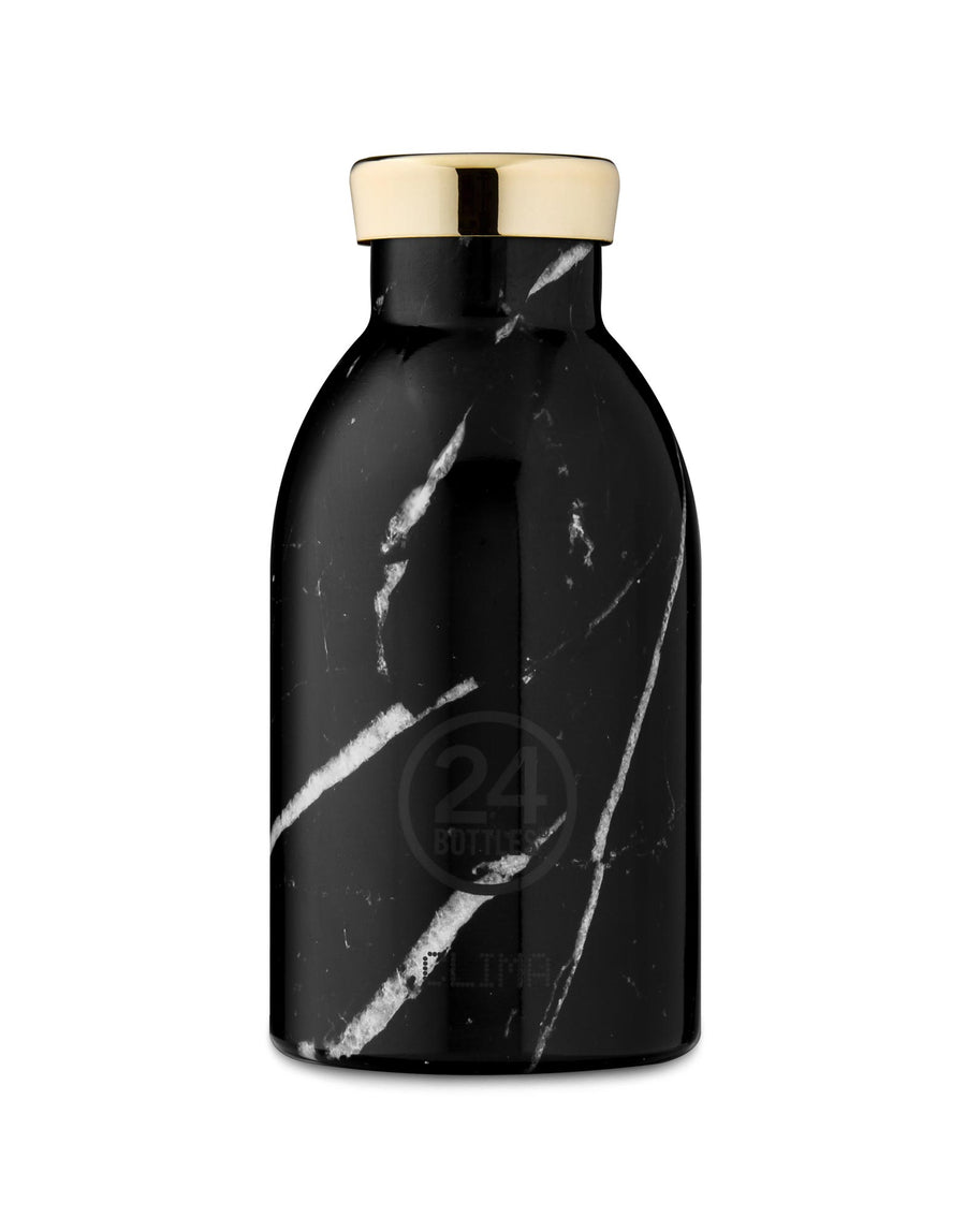 24 Bottles Clima Insulated Bottle 330ml Black Marble