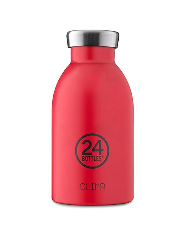 24 Bottles Clima Insulated Bottle 330ml Hot Red