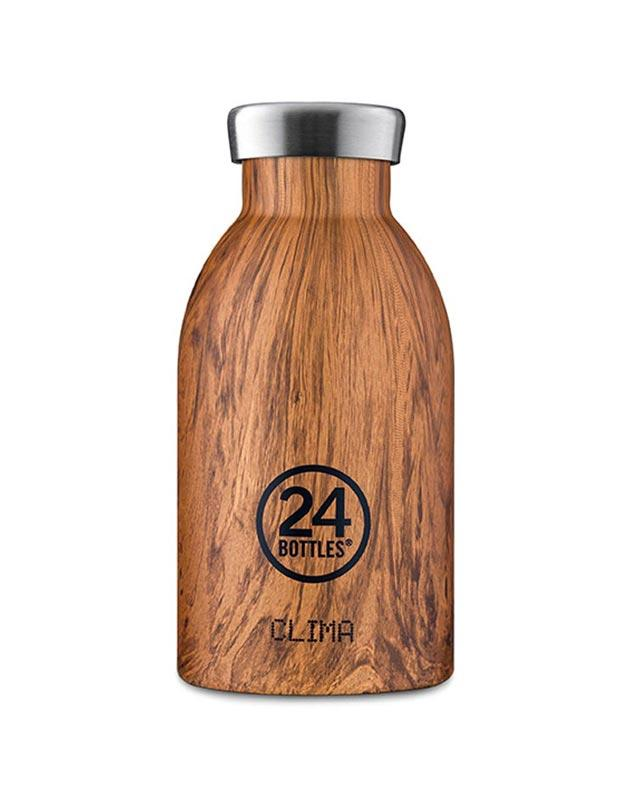 24 Bottles Clima Insulated Bottle 330ml Sequoia Wood