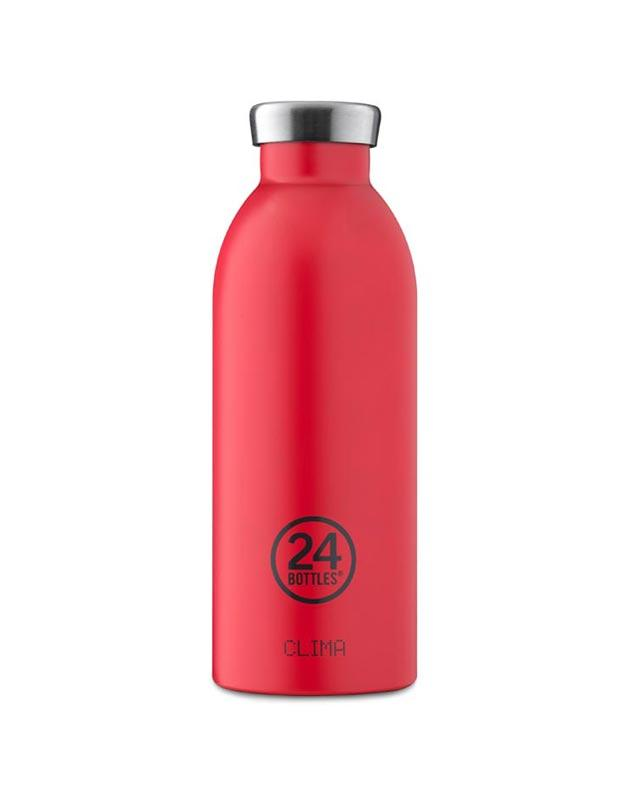 24 Bottles Clima Insulated Bottle 500ml Hot Red