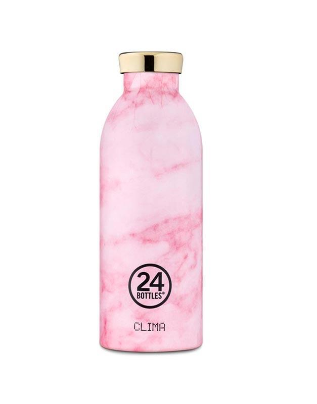 24 Bottles Clima Insulated Bottle 500ml Pink Marble