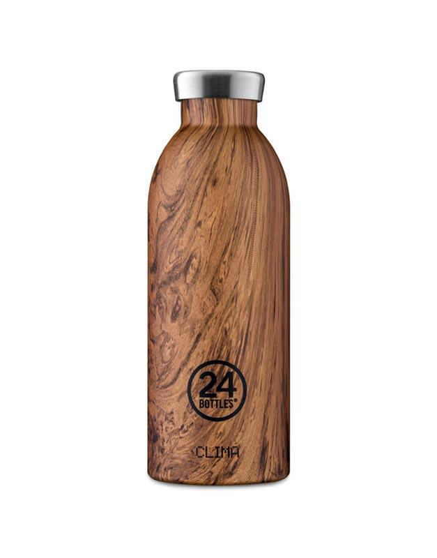 24 Bottles Clima Insulated Bottle 500ml Sequoia Wood