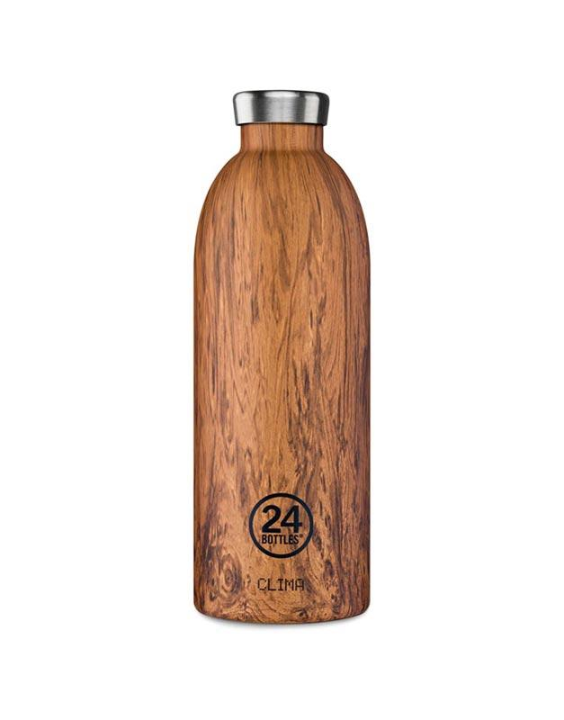 24 Bottles Clima Insulated Bottle 850ml Sequoia Wood