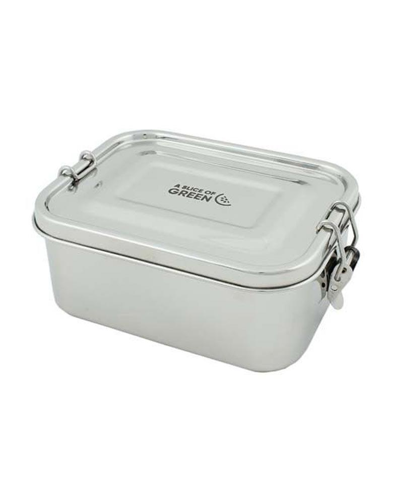 A Slice of Green Steel Leak Proof Lunch Box 1.05L