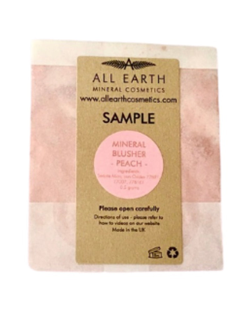All Earth Mineral Cosmetics Peach Blusher Sample