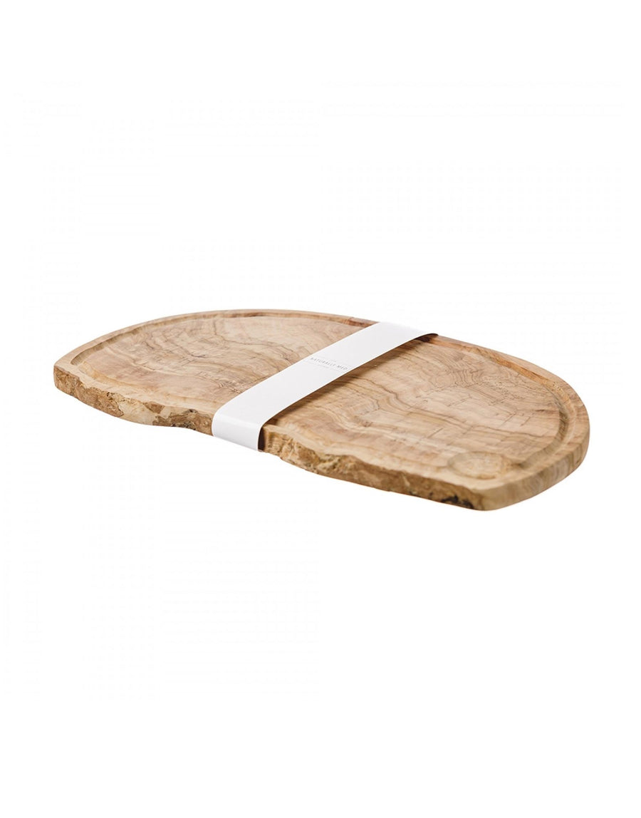 Naturally Med Olive Wood Chopping Board with Groove