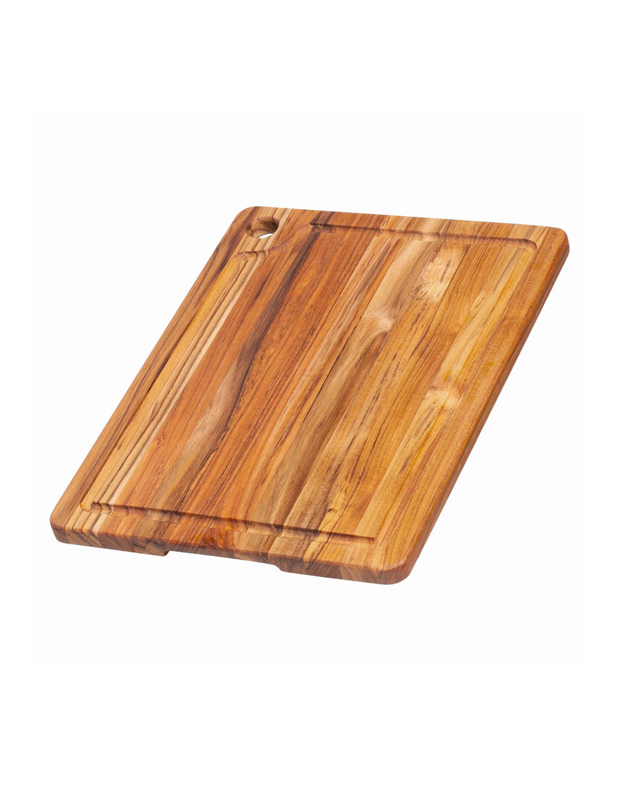 Teak Haus Carving Board with Corner Hole & Juice Groove