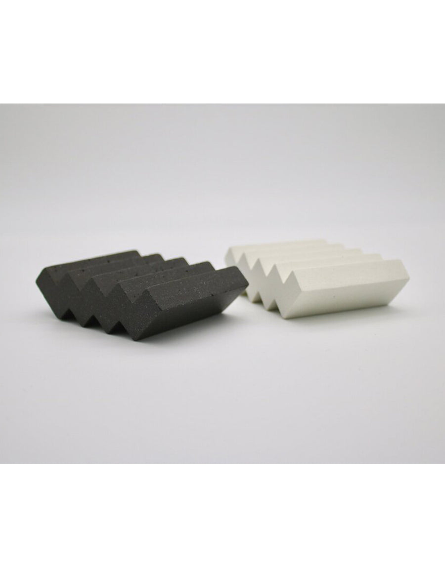 London Bathers Black ZigZag Soap Dish
