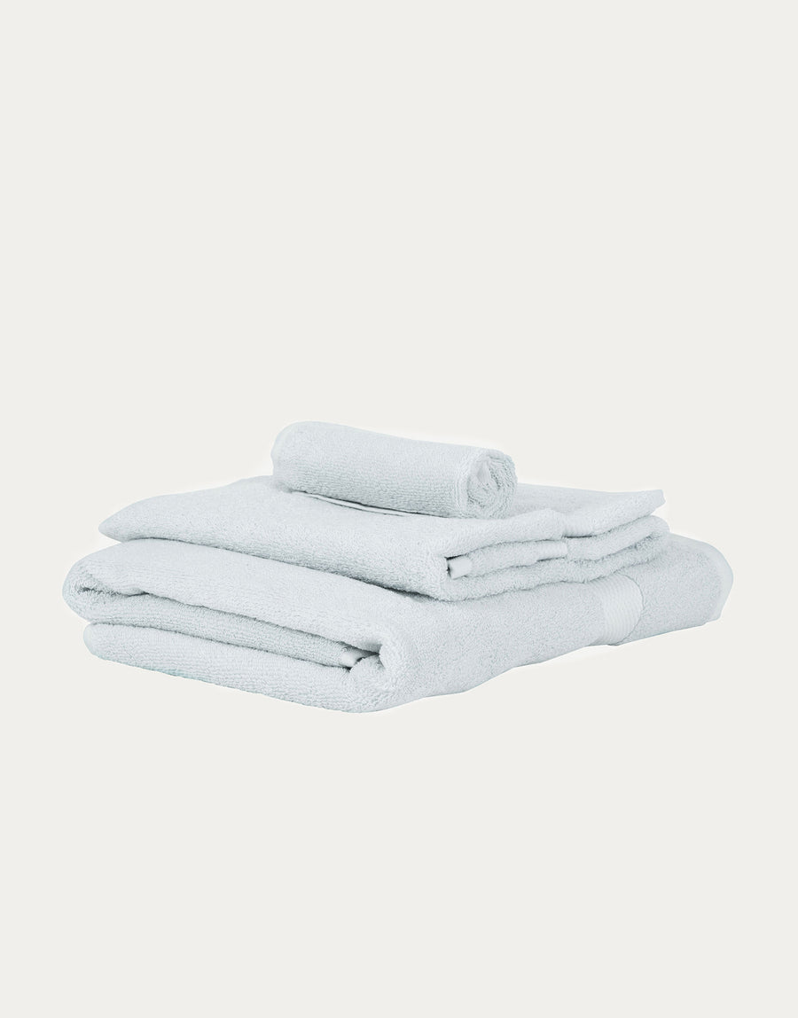 LittleLeaf Organic Cotton Arctic Blue Towel Set