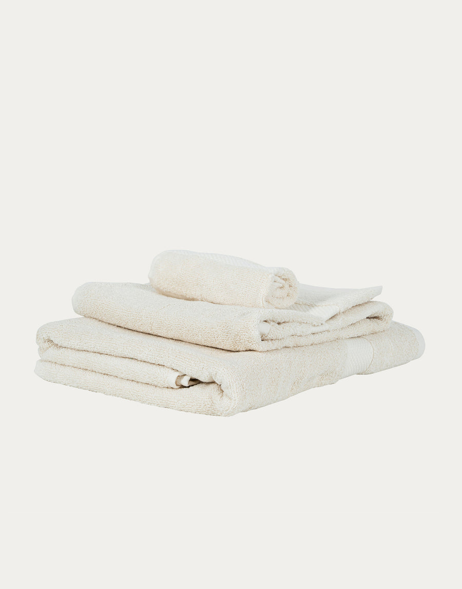 LittleLeaf Organic Cotton Natural Towel Set