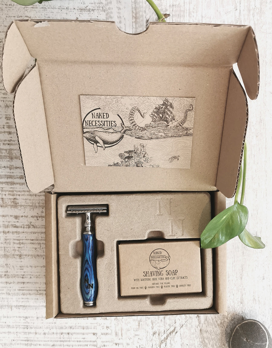 Naked Necessities The Naked Shave Kit Ocean Blue