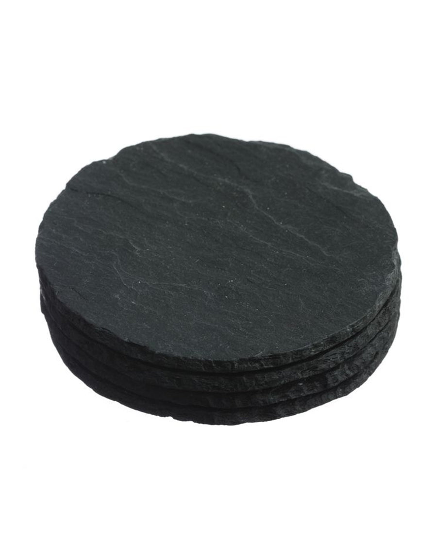 The Just Slate Company Round Coasters Set of 4