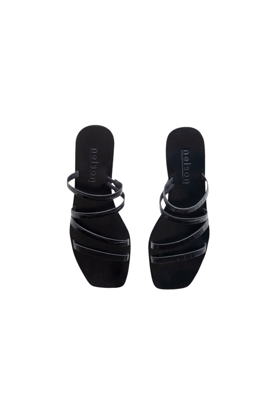 Myra Slide Black Croc