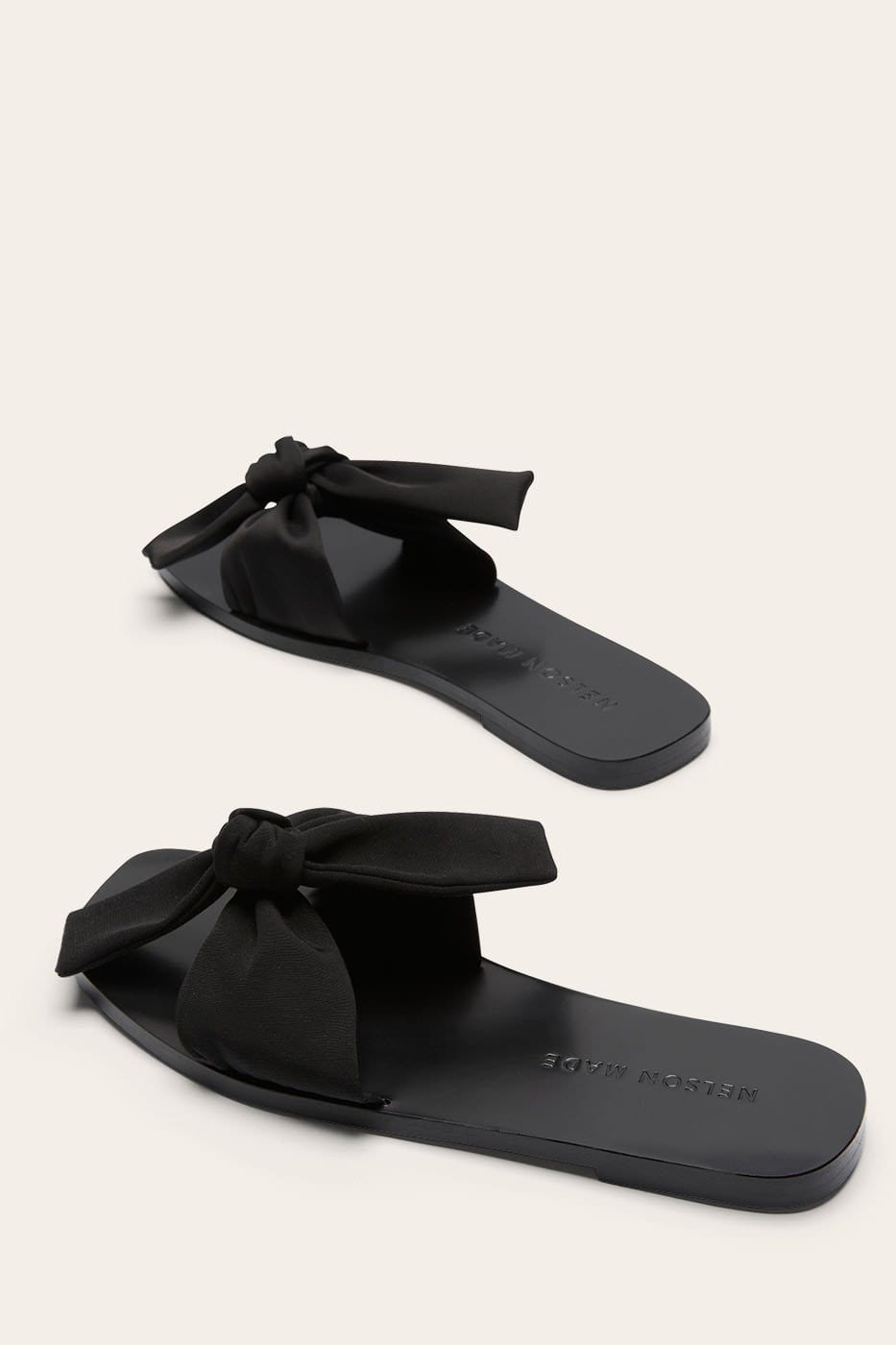 Lola Slide Black Satin