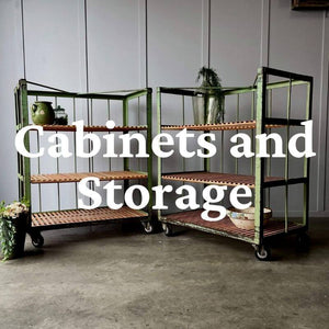 Vintage, Antique and Industrial Cabinets and Storage