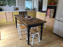 Antique dinning table in newly renovated house.