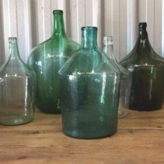 Blue glass carboy glass bottle