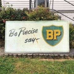Sold! Large BP Sign