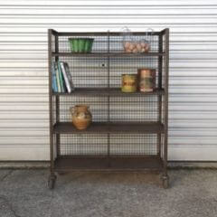 Industrial shelving for kitchen use