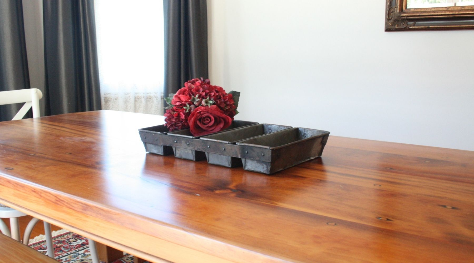 Bakers tray for table center piece, antique table fruit bowl, Auckland and New Zealand
