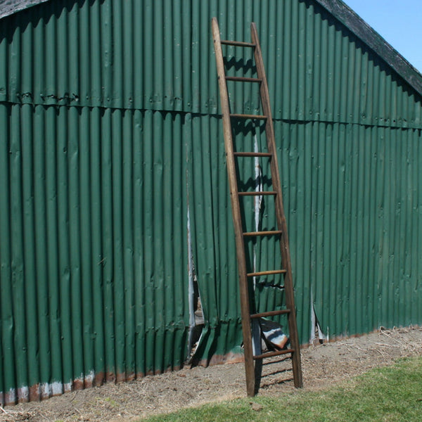 Oak Fruit Picking Ladder Auckland Decorative European and New Zealand Antiques, Furniture, Tables, Decor