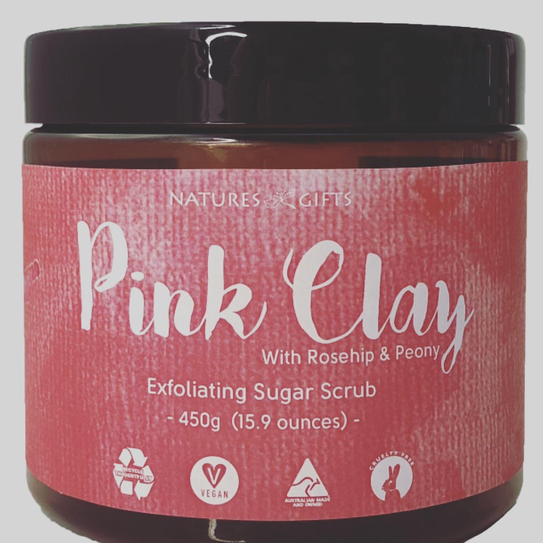 PINK CLAY EXFOLIATING SUGAR SCRUB
