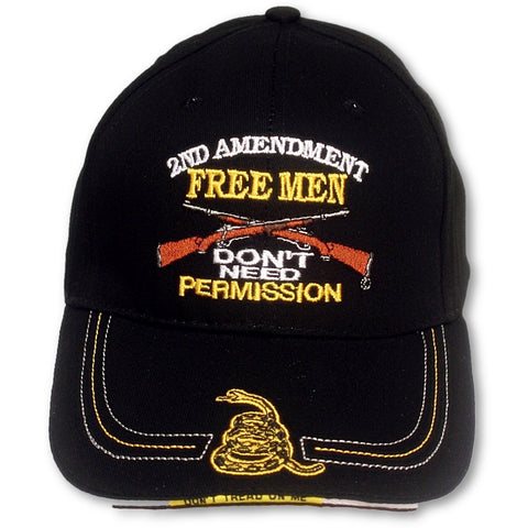 2A Free Men Don't Need Permission [Ballcap]