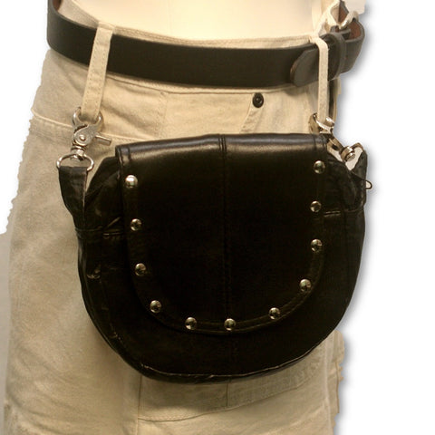 Leather belt loop purse 1301