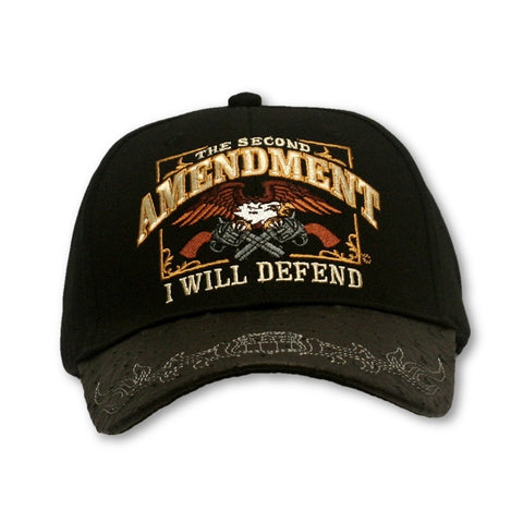 "2A Embroidered Ballcap - ""The Second Amendment - I Will Defend"""