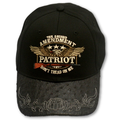 "2A Embroidered Ballcap - ""The Second Amendment Patriot- Don't Tread On Me"""