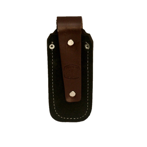 Folding knife genuine leather sheath - small woven