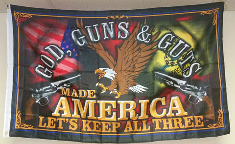 God, Guns & Guts flag