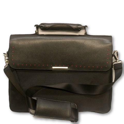 Briefcase with Leather Trim